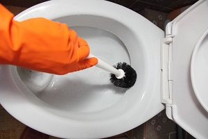 Détartrage des wc avec un détartrant cafetière